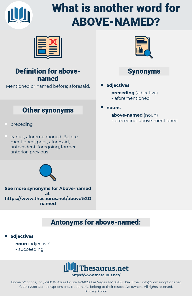 above-named, synonym above-named, another word for above-named, words like above-named, thesaurus above-named
