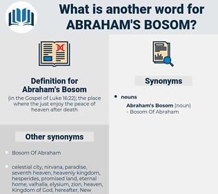 Abraham's Bosom, synonym Abraham's Bosom, another word for Abraham's Bosom, words like Abraham's Bosom, thesaurus Abraham's Bosom