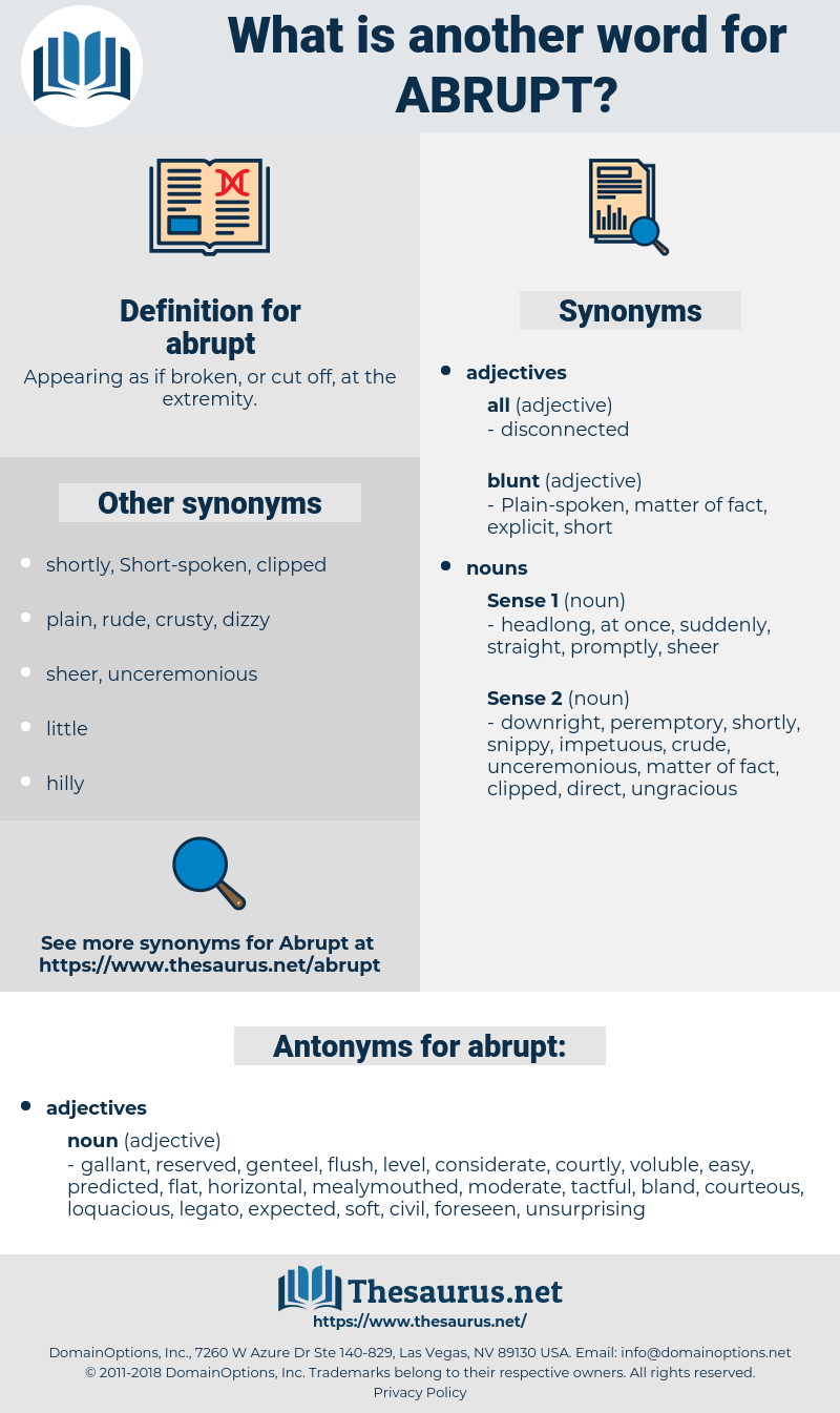 abrupt, synonym abrupt, another word for abrupt, words like abrupt, thesaurus abrupt