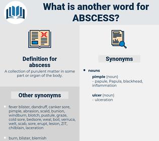 abscess, synonym abscess, another word for abscess, words like abscess, thesaurus abscess