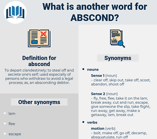 abscond, synonym abscond, another word for abscond, words like abscond, thesaurus abscond
