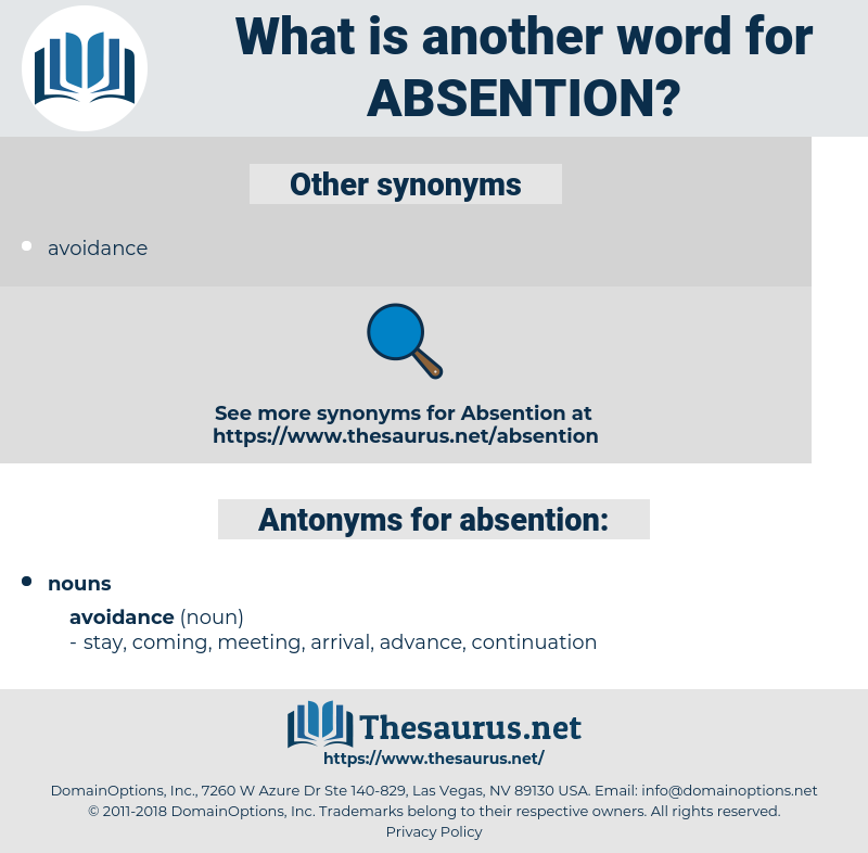 absention, synonym absention, another word for absention, words like absention, thesaurus absention