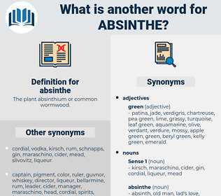 absinthe, synonym absinthe, another word for absinthe, words like absinthe, thesaurus absinthe