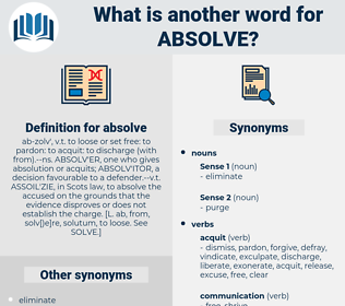 absolve, synonym absolve, another word for absolve, words like absolve, thesaurus absolve