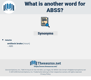 ABSS, synonym ABSS, another word for ABSS, words like ABSS, thesaurus ABSS