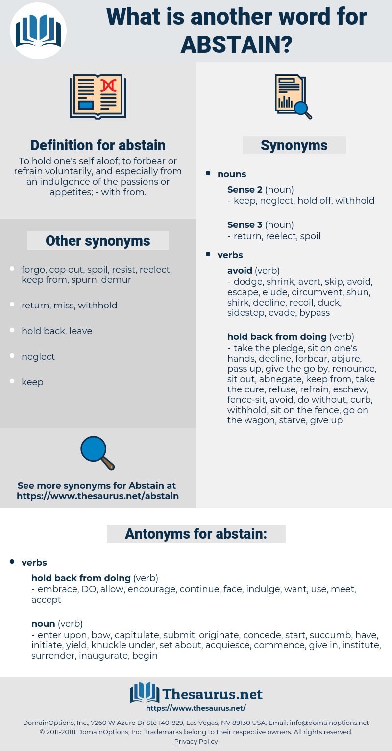 abstain, synonym abstain, another word for abstain, words like abstain, thesaurus abstain