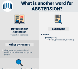 Abstersion, synonym Abstersion, another word for Abstersion, words like Abstersion, thesaurus Abstersion
