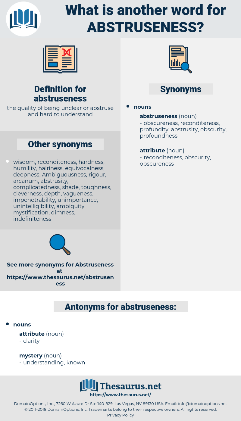 abstruseness, synonym abstruseness, another word for abstruseness, words like abstruseness, thesaurus abstruseness