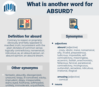 absurd, synonym absurd, another word for absurd, words like absurd, thesaurus absurd
