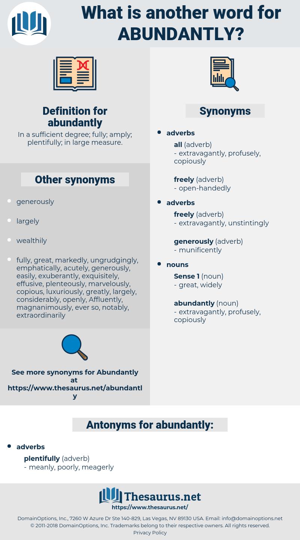 abundantly, synonym abundantly, another word for abundantly, words like abundantly, thesaurus abundantly
