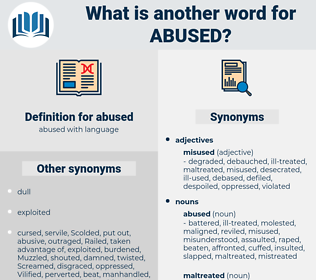 abused, synonym abused, another word for abused, words like abused, thesaurus abused