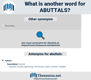 abuttals, synonym abuttals, another word for abuttals, words like abuttals, thesaurus abuttals