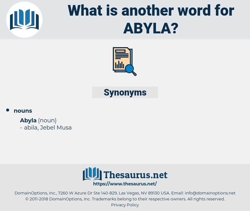 abyla, synonym abyla, another word for abyla, words like abyla, thesaurus abyla