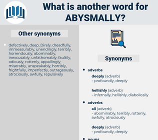 abysmally, synonym abysmally, another word for abysmally, words like abysmally, thesaurus abysmally