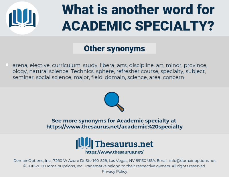 academic specialty, synonym academic specialty, another word for academic specialty, words like academic specialty, thesaurus academic specialty