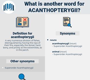 acanthopterygii, synonym acanthopterygii, another word for acanthopterygii, words like acanthopterygii, thesaurus acanthopterygii
