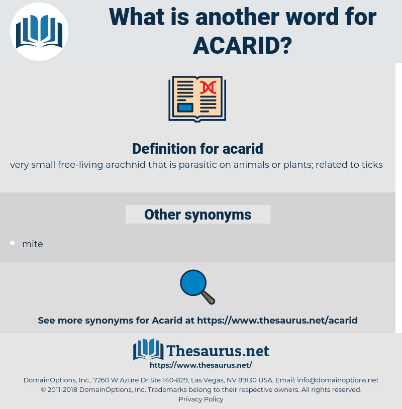 acarid, synonym acarid, another word for acarid, words like acarid, thesaurus acarid