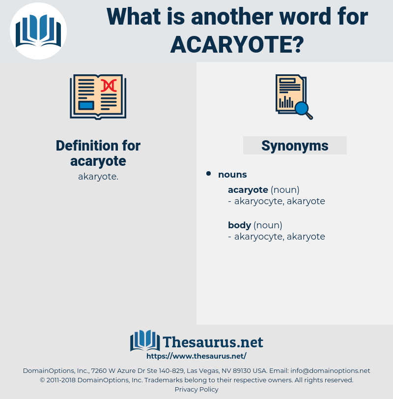 acaryote, synonym acaryote, another word for acaryote, words like acaryote, thesaurus acaryote