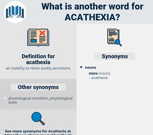 acathexia, synonym acathexia, another word for acathexia, words like acathexia, thesaurus acathexia