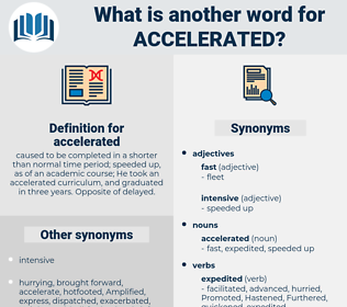 accelerated, synonym accelerated, another word for accelerated, words like accelerated, thesaurus accelerated