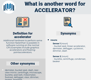 accelerator, synonym accelerator, another word for accelerator, words like accelerator, thesaurus accelerator