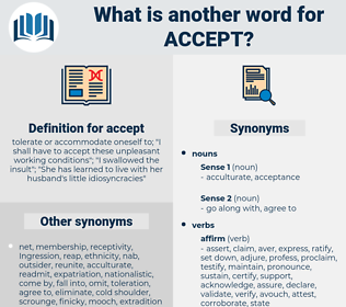 accept, synonym accept, another word for accept, words like accept, thesaurus accept