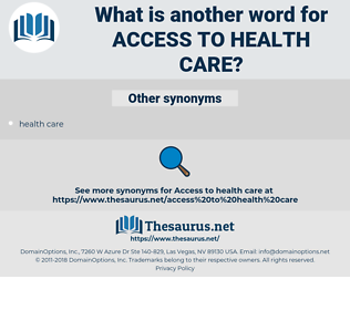 Access to Health Care, synonym Access to Health Care, another word for Access to Health Care, words like Access to Health Care, thesaurus Access to Health Care