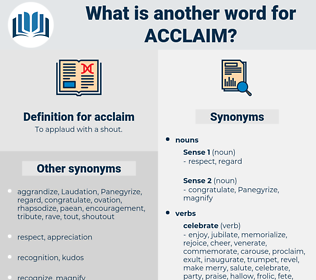 acclaim, synonym acclaim, another word for acclaim, words like acclaim, thesaurus acclaim
