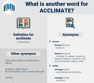 acclimate, synonym acclimate, another word for acclimate, words like acclimate, thesaurus acclimate