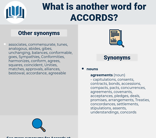 accords, synonym accords, another word for accords, words like accords, thesaurus accords