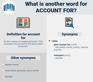 account for, synonym account for, another word for account for, words like account for, thesaurus account for