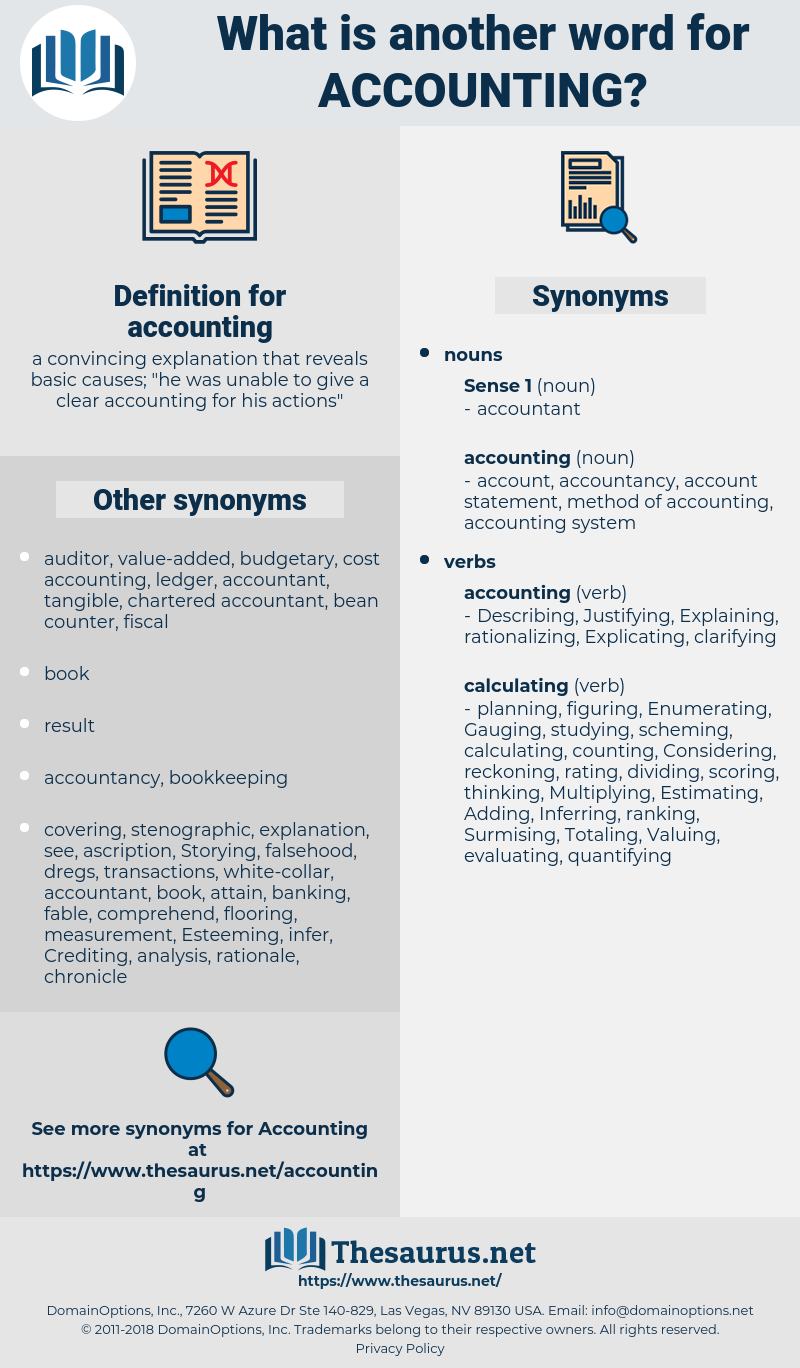accounting, synonym accounting, another word for accounting, words like accounting, thesaurus accounting