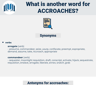 accroaches, synonym accroaches, another word for accroaches, words like accroaches, thesaurus accroaches