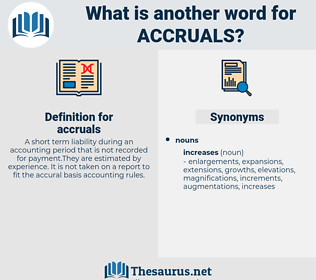 accruals, synonym accruals, another word for accruals, words like accruals, thesaurus accruals