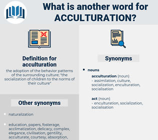 acculturation, synonym acculturation, another word for acculturation, words like acculturation, thesaurus acculturation
