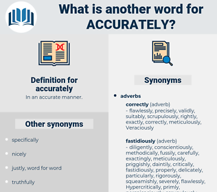 accurately, synonym accurately, another word for accurately, words like accurately, thesaurus accurately