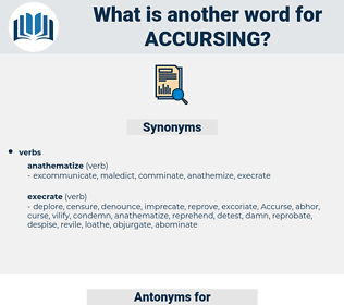 accursing, synonym accursing, another word for accursing, words like accursing, thesaurus accursing