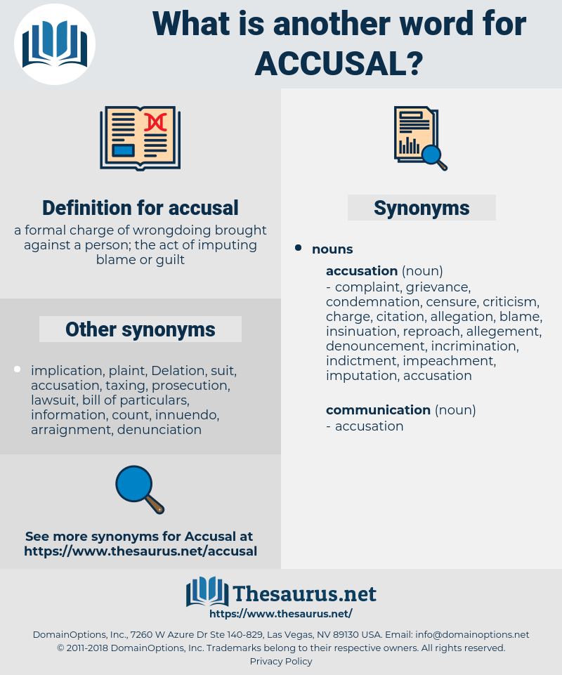 accusal, synonym accusal, another word for accusal, words like accusal, thesaurus accusal