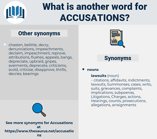 accusations, synonym accusations, another word for accusations, words like accusations, thesaurus accusations