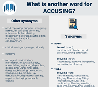 accusing, synonym accusing, another word for accusing, words like accusing, thesaurus accusing