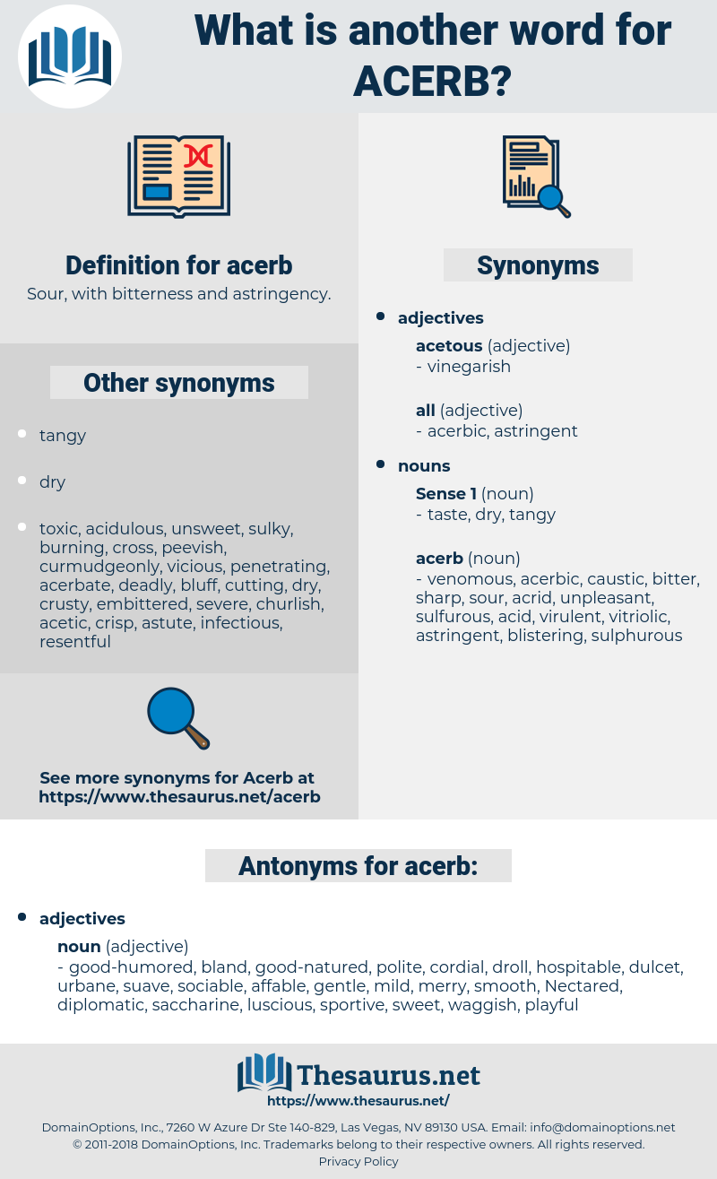 acerb, synonym acerb, another word for acerb, words like acerb, thesaurus acerb
