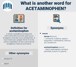 acetaminophen, synonym acetaminophen, another word for acetaminophen, words like acetaminophen, thesaurus acetaminophen
