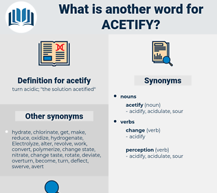 acetify, synonym acetify, another word for acetify, words like acetify, thesaurus acetify