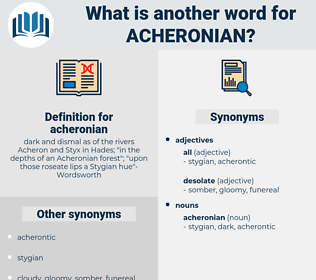 acheronian, synonym acheronian, another word for acheronian, words like acheronian, thesaurus acheronian