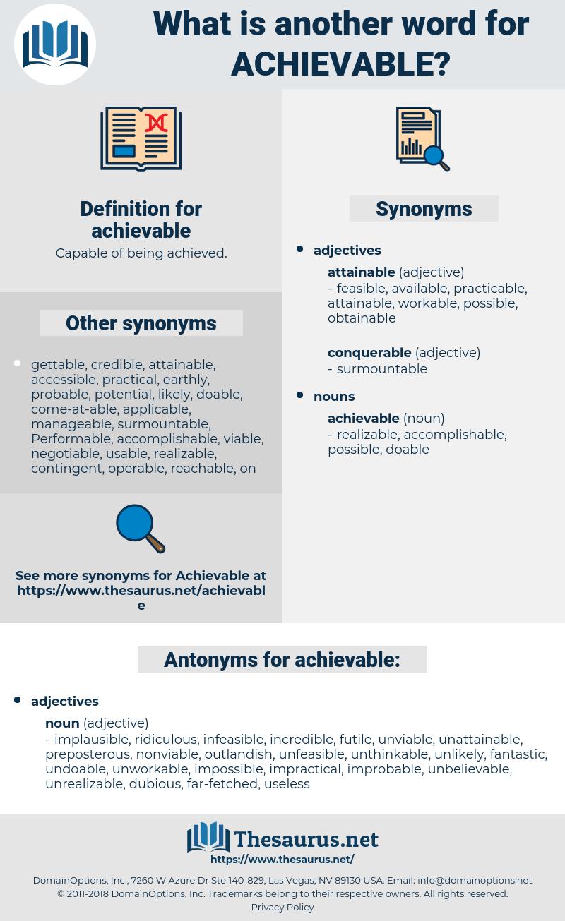 achievable thesaurus