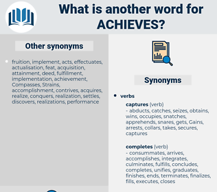 achieves, synonym achieves, another word for achieves, words like achieves, thesaurus achieves