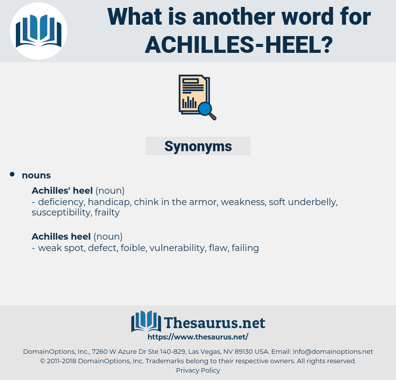 achilles heel, synonym achilles heel, another word for achilles heel, words like achilles heel, thesaurus achilles heel