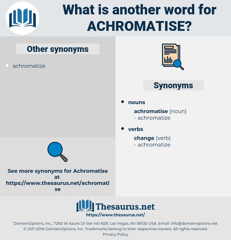 achromatise, synonym achromatise, another word for achromatise, words like achromatise, thesaurus achromatise