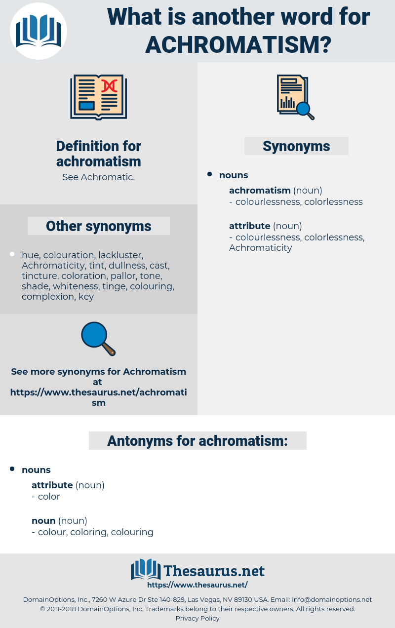 achromatism, synonym achromatism, another word for achromatism, words like achromatism, thesaurus achromatism