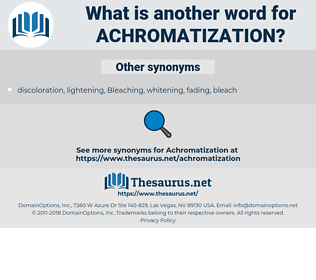Achromatization, synonym Achromatization, another word for Achromatization, words like Achromatization, thesaurus Achromatization